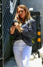 Hilary Duff Struts out of Nine Zero One salon in West Hollywood