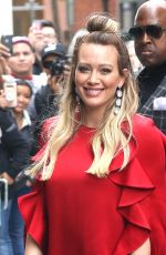 Hilary Duff Visits Aol in New York City