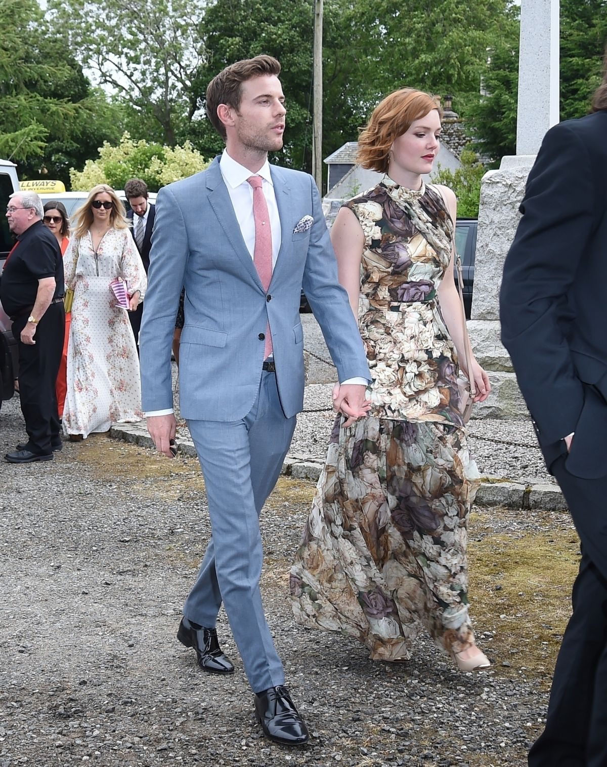 Kit Harington Wedding.Holliday Grainger At Kit Harington And Rose Leslie Wedding At Rayne