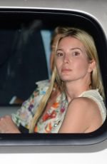 Ivanka Trump Wears a beige dress while out and about in New York City