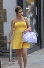 Jacqueline Jossa Attending her pink-themed baby shower at the Meze in Bexleyheath, England