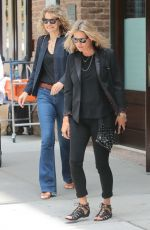 Kate Moss and a friend are seen leaving the Greenwich Hotel in New York