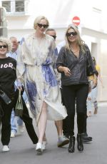 Kate Moss, Kelly Osbourne & Gwendoline Christie Seen in Paris during the Fashion Week