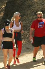 Lindsey Pelas Shows off her curves while hiking at Runyon Canyon with friends, Los Angeles