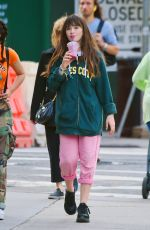 Malina Weissman Out with a friend in Upper East Side, Manhattan