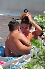 Megan McKenna Enjoys a day at the beach during a summer break in Mallorca