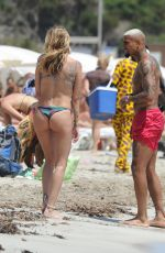 Melissa Satta Enjoys a day at the beach in Ibiza, Spain