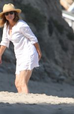 Minnie Driver Seen on the beach in Los Angeles