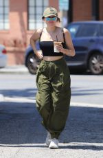 Noah Cyrus Stops for an iced coffee in Studio City