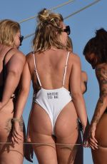 Olivia Buckland joined on boat trip by Cara Delahoyde, Gabby Allen, Tina Stinnes and Nadia Essex in Mykonos