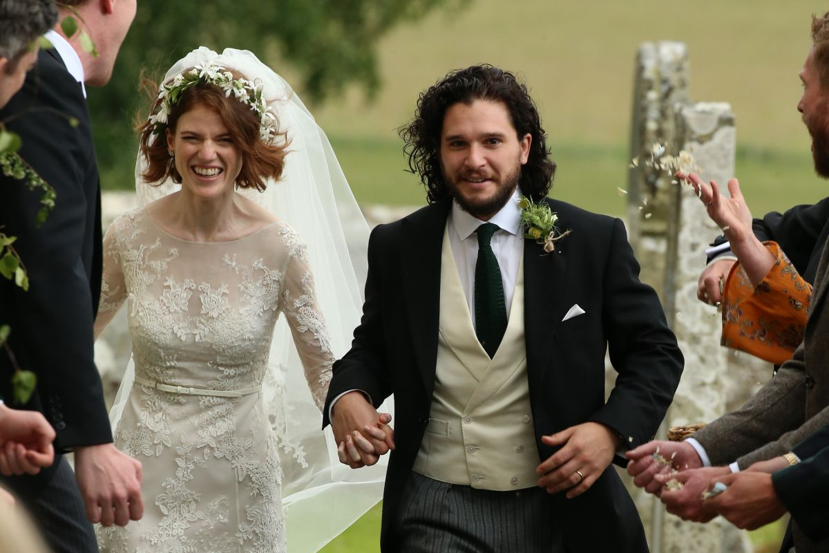 Rose Leslie At Her Wedding At Rayne Church In Aberdeen
