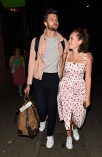 Tanya Burr Spotted on a night out with her husband Jim Chapman and a friend in London