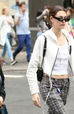 Vittoria Ceretti Stood out in plaid pants as she went shopping in New York