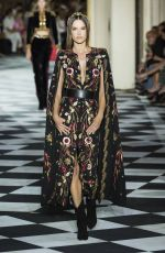 Alessandra Ambrosio At Zuhair Murad Couture runway during Haute Couture Autumn - Winter 2018-19 Collection in Paris, France