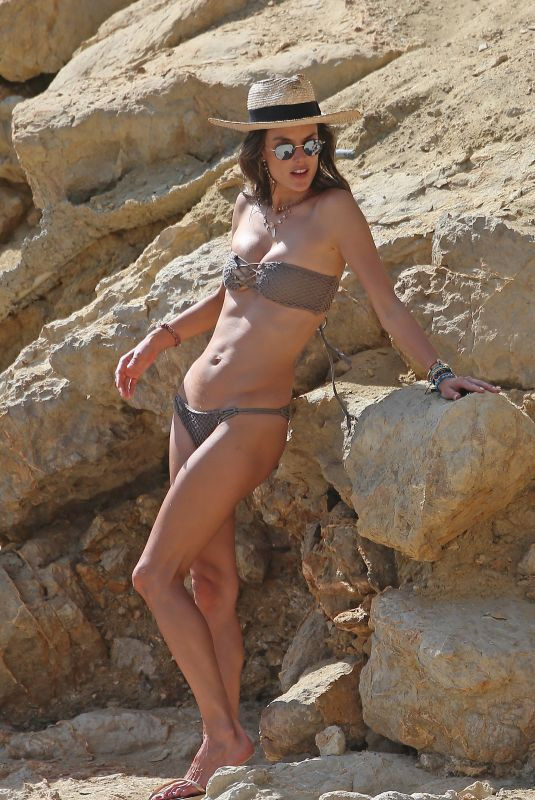 Alessandra Ambrosio In bikini on the beach in Ibiza