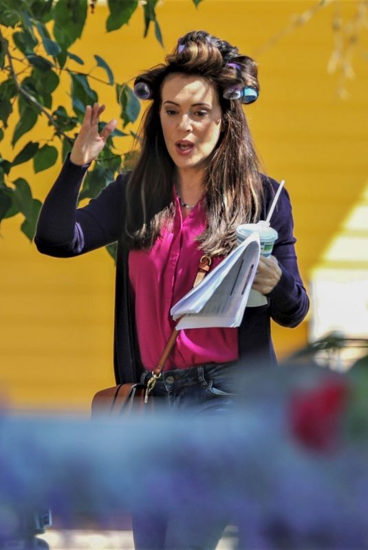 Alyssa Milano Does a rehearsal for director Kim in Vancouver