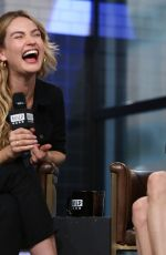 Amanda Seyfried & Lily James At AOL Build in NYC