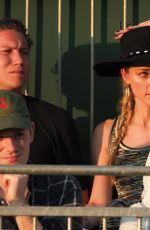 Amber Heard Enjoying day five of the Wimbledon Tennis Championships in London