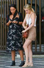Ana de Armas Meets up with a friend at Ipanema