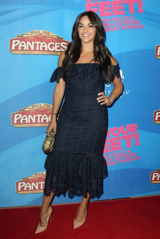 Ana Villafane At On Your Feet! The Story of Emilio & Gloria Estefan Premiere in Hollywood