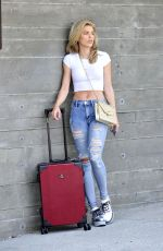 AnnaLynne McCord With Andiamo Classico Luggage at LAX Airport