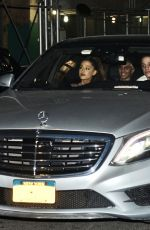 Ariana Grande and her boyfriend Pete Davidson head out for a late night romantic drive in his Mercedes Benz in New York City
