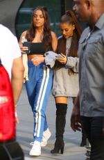 Ariana Grande Stepping out to the studio with a friends in New York City