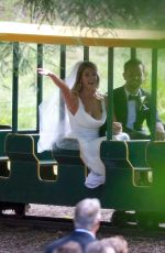 Ashley Greene and Paul Khoury At Their Wedding Reception in San Jose