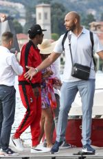 Beyonce - & Jay-Z Took an hour off their tour while enjoying a ride on a boat on Lake Como, Italy