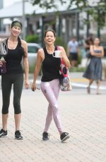 Brooke Burke Arriving to and exiting Booty Burn Class in Malibu