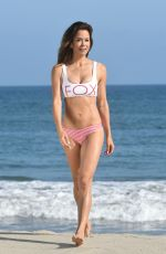 Brooke Burke-Charvet Enjoying the 4th of July on the beach in Malibu