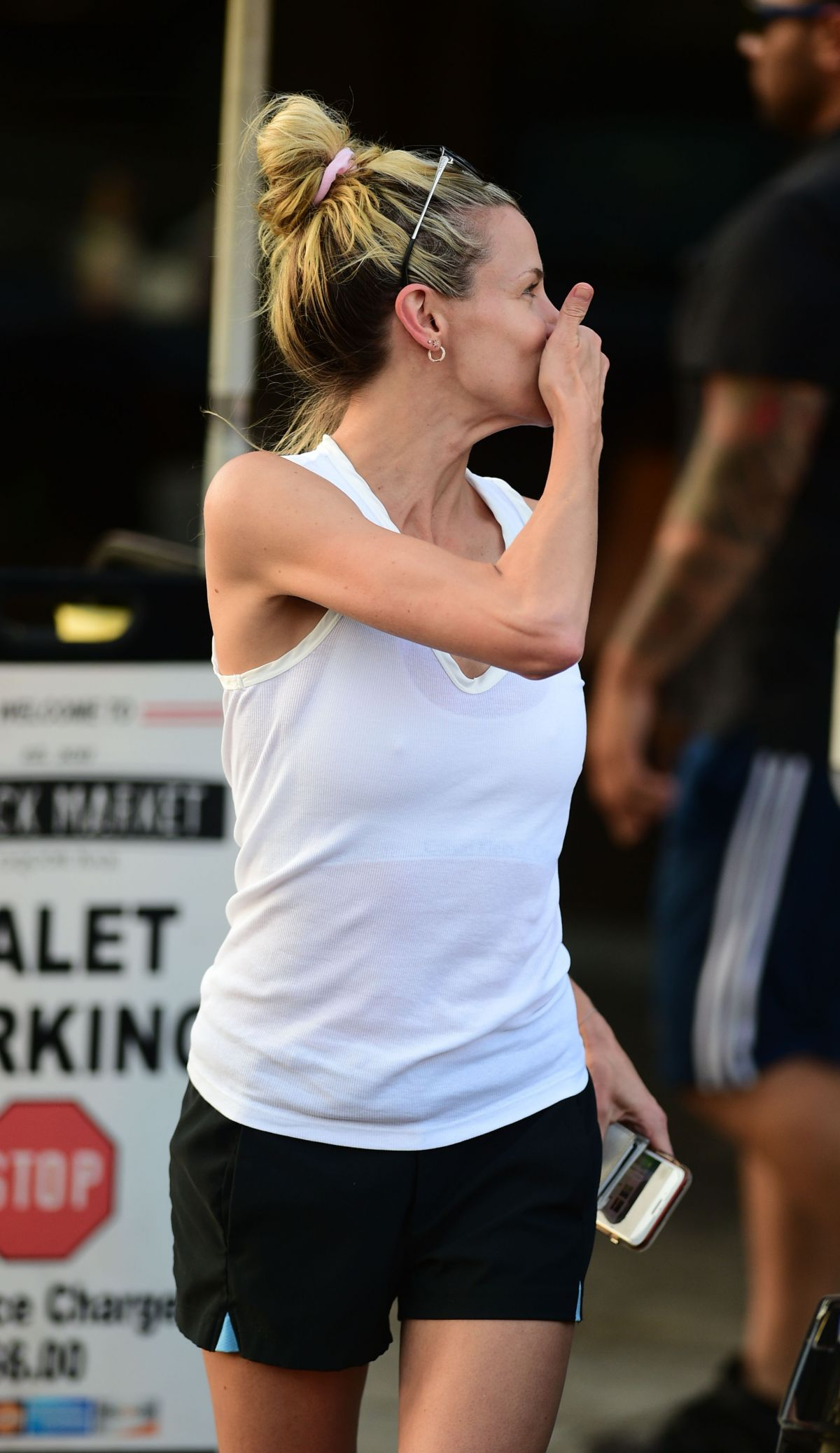 Brooke Burns In shorts and tank-top out in Los Angeles ... |Shorts Brooke Burns
