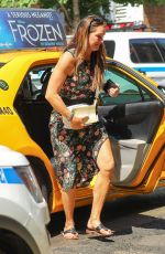 Brooke Shields Exiting a yellow cab in the West Village in New York