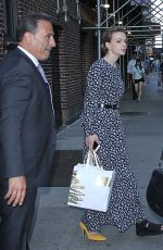 Carey Mulligan Wears an ankle brace at The Late Show with Stephen Colbert in New York City