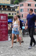 Caroline Wozniacki and David Lee strolling in Portofino