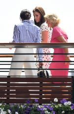 Catherine Duchess of Cambridge and Meghan Duchess of Sussex At Wimbledon Tennis Championships, Day 12, London