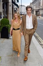 Chris Pine & Annabelle Wallis Pictured hand in hand while on date night in London