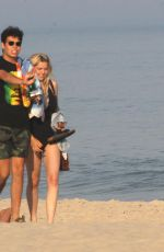 Christie Brinkley and Sailor Brinkley Cook Spend the Day on the Beach With Friends, Hamptons