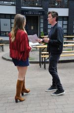 Daisy Wood-Davis At the Hollyoaks set in Liverpool