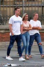 Daniela Jehle Out for dinner in Barcelona