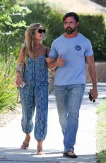 Denise Richards and Aaron Phypers on a dinner date in Calabasas