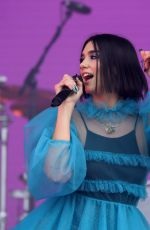 Dua Lipa Performs live on stage during the second day of Lollapalooza Paris Festival in Paris