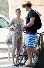 Eiza Gonzalez and Josh Duhamel go for a ride while vacationing together in Mexico