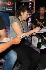 Elizabeth Henstridge and Zachary Abel sign autographs for fans at Comic-Con 2018 in San Diego