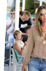 Elizabeth Hurley Touches down in Palma, Spain