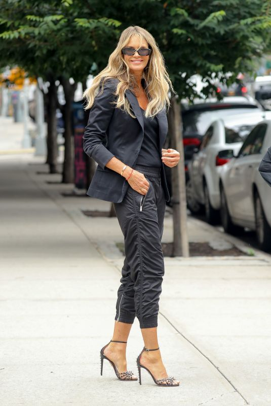 Elle Macpherson Is All Smiles While In An All Black Outfit In New York City
