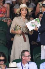 Emma Watson On day thirteen at The Championships at Wimbledon in London
