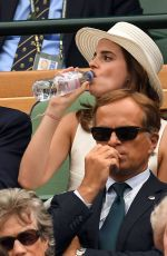 Emma Watson On day twelve at The Championships at Wimbledon in London
