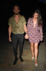 Faye Brookes Enjoys a date night at Wood Restaurant in Manchester