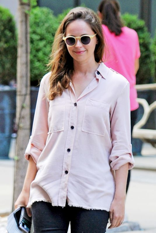 Felicity Jones Out and about in New York City